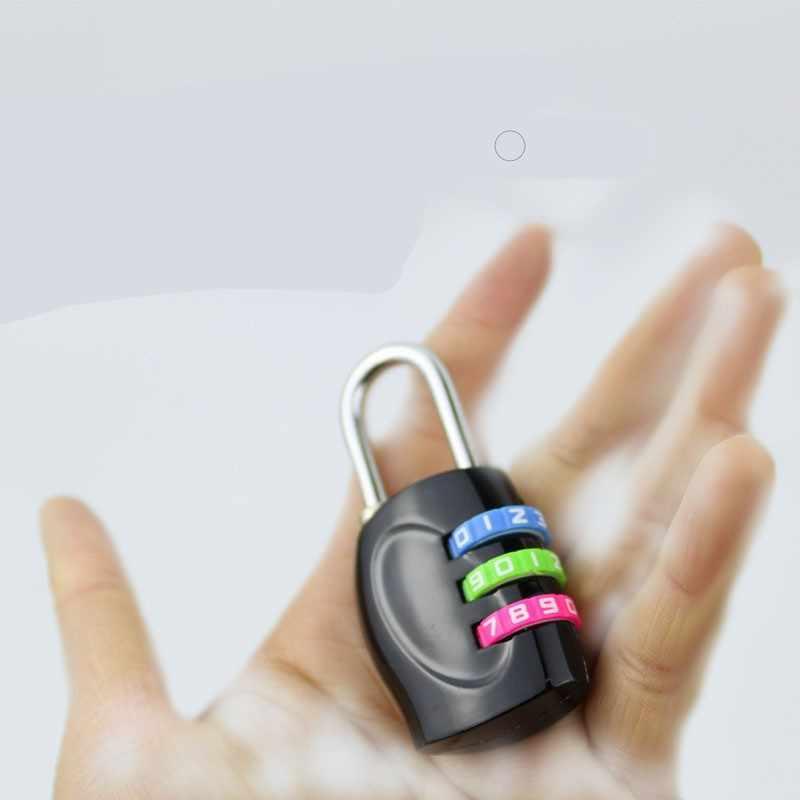 Valise de cadenas de mot de passe numérique de combinaison de roue de la couleur 3/4, porte d'armoire de sac à dos, cadenas de code antivol d'alliage de zinc