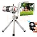 2017 kit de lentes de Clip Universal Móvil 18x Zoom Telescopio Teleobjetivo Lentes con trípode para iphone 5s 6 6 s 7 xiaomi smartphone meizu
