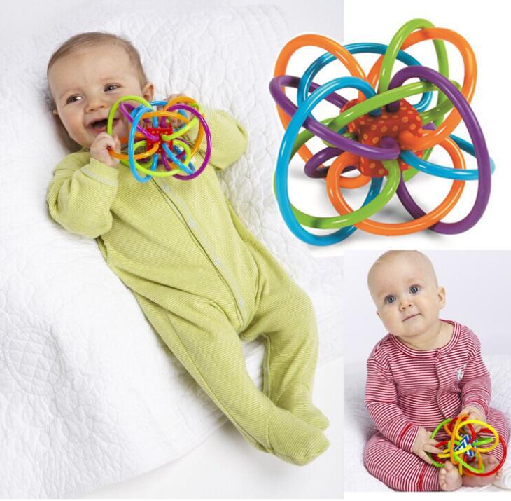 Juguete del bebé Pequeño y Divertido juguete Bola Bebé bola Campana Loud Desarro