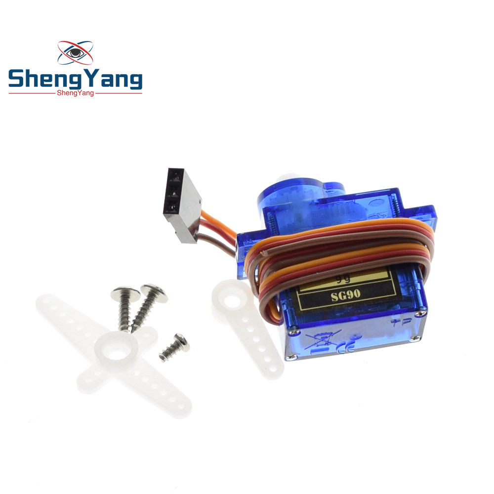 1PCS ShengYang Smart Electronics  Rc Mini Micro 9g 1.6KG Servo SG90 for RC 250 450 Helicopter Airplane Car Boat 5