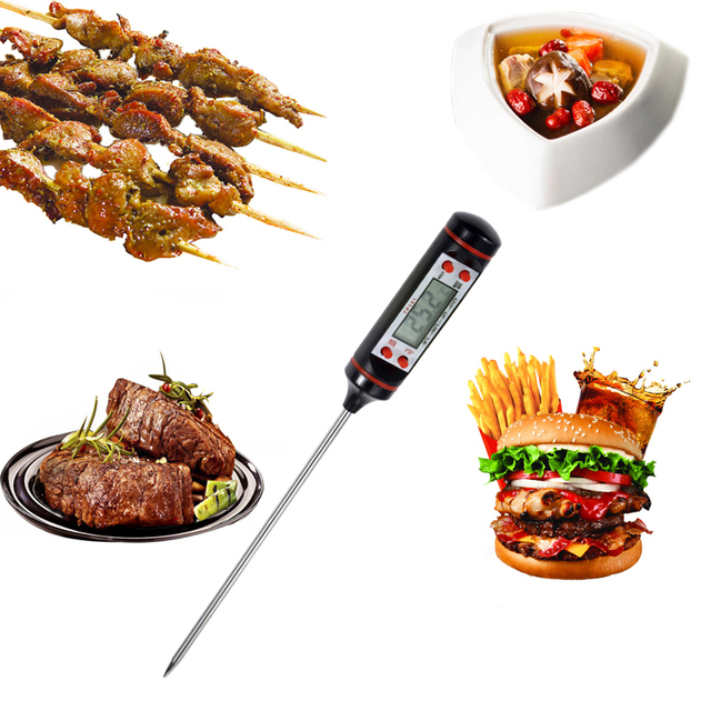 Anpro Kitchen Digital BBQ Food Thermometer Meat Cake Candy Fry Grill Dinning Household Cooking Thermometer Gauges with Battery