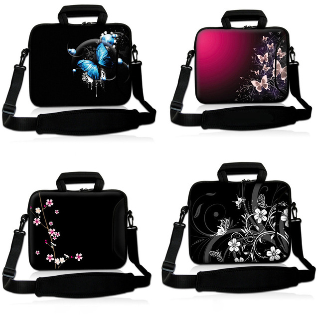 Women Laptop Sleeve Soft Messenger Shoulder Bag Case Handbag Carry bag Pouch Cover Protector for 10 13 15 17 HP Dell Acer PC