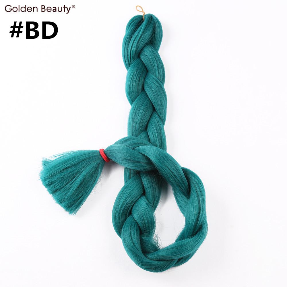 41 дюймов вязаный крючком наращивание волос синтетические вязаный крючком косы один тон цвет Джамбо плетения волос