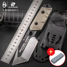 HX OUTDOORS Gift knife portable EDC defense survival high-end folding knife G10 knife handle AUS-8 blade tactical knives