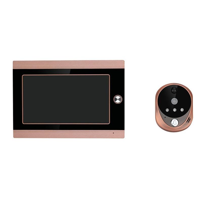 7 pouces affichage câble vidéo téléphone sonnette infrarouge étanche à la pluie sans fil App déverrouiller interphone système