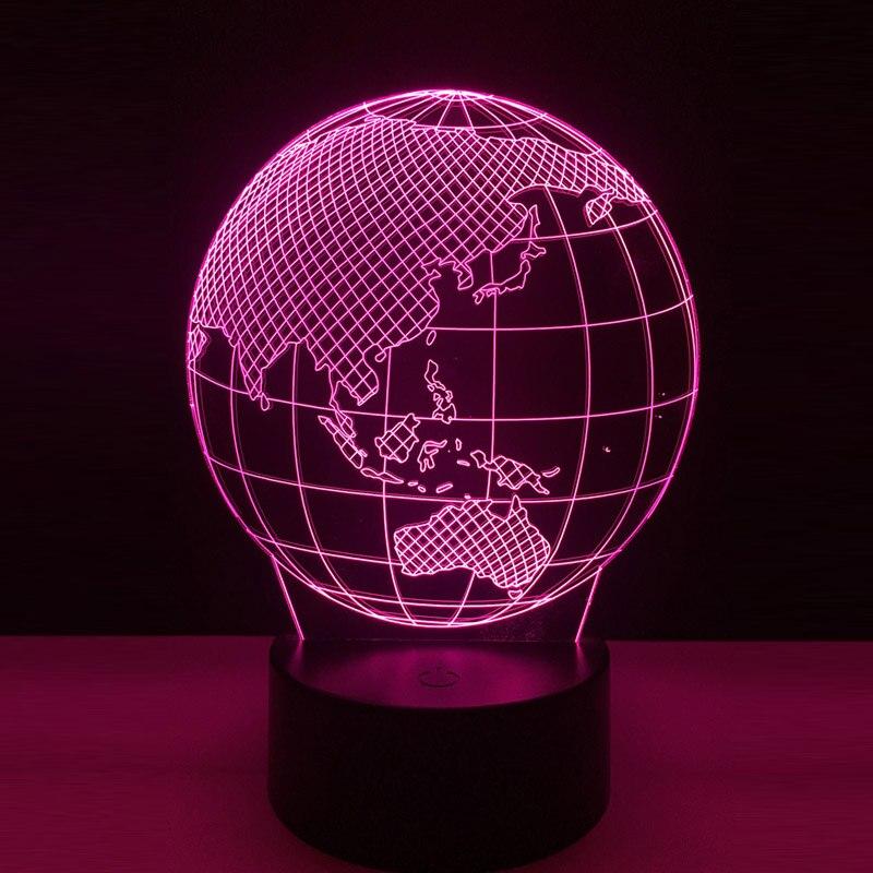 Amroe Новый 2018 3D светодиодный земной шар карта ночник Спальня Таблица RGB красочные лампы RC игрушки Хэллоуин Рождественский подарок для детей у...