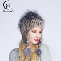 WNAORBM Nuovo Inverno Caldo Cappello di Pelliccia di Visone Fur Lady Mink cappello Protezioni per Le Orecchie Modo di Alta qualità Cappello di Pelliccia Per I Giovani donne