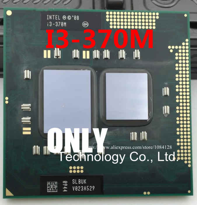 Spedizione gratuita intel i3-370M SLBUK Core della CPU Processore i3-370M 3 m Cache, 2.4 ghz, intel i3 370 m CPU PPGA988 supporto HM55/QH57