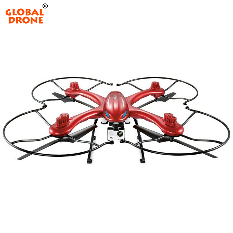 Global Drone RC Quadcopter 2.4GHz 4CH 6-Axis Gyro Dron with 4K Camera One Key Return Altitude Hold Remote Control Helicopter цены