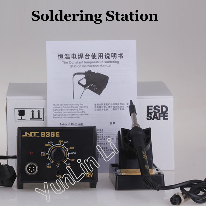 Constant Temperature Soldering Station Lead-free Repair Welding Station Heat Thermostat Electric Iron NT 936E 907 adjustable constant temperature lead free soldering iron