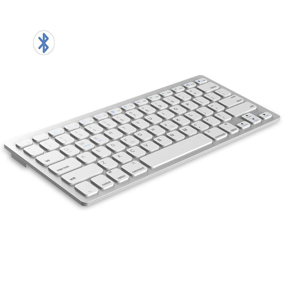 Multi-Lingual Universal Wireless Bluetooth Keyboard Ultra Slim Wireless Keyboard Compatible for iOS iPad Android Tablets Windows