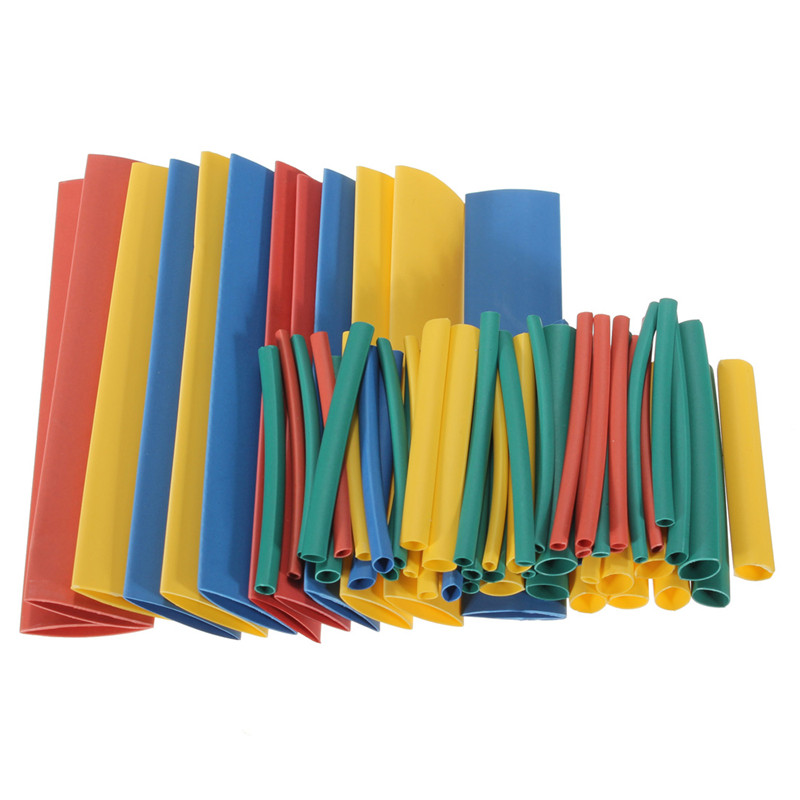 260pc 12.4m 2:1 Heat Shrink Wire Wrap Assortment Tubing Electrical Connection Cable Sleeve 4 Colors