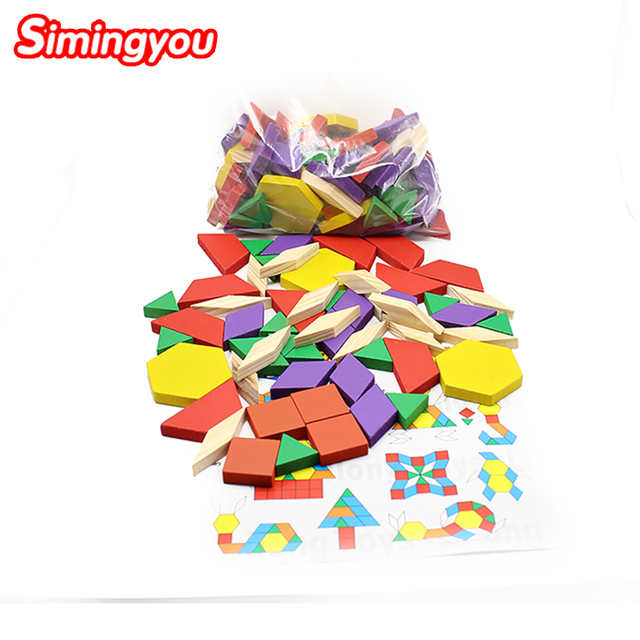 Simingyou 125 Piece Color Puzzle Children Early Education Puzzle Wooden Toys For Children SG28