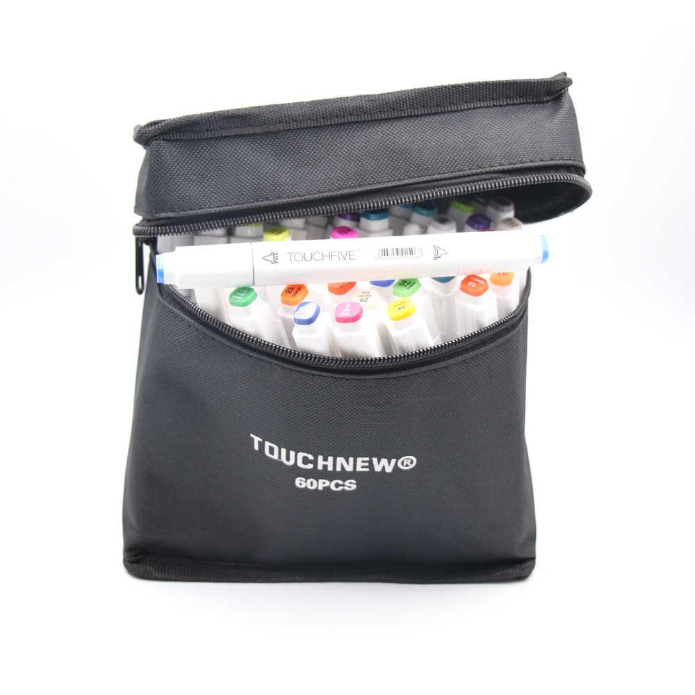 Conjuntos de arte marcadores TouchFIVE 30/40/60/80/168 Cores Anime mangá esboço Álcool estudante de design caneta Para Desenho (Branco Caneta)