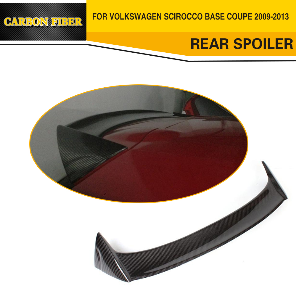 Car Styling Carbon Fiber Auto Rear Wing Spoiler Lip for VW Scirocco 2010-2012 epr car styling for nissan skyline r33 gtr type 2 carbon fiber hood bonnet lip