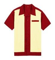 Erkek Mor Paneli Renk Kısa Kollu Düğme Yukarı Giymek Pamuk 50'in Bağbozumu Rahat Tasarımcı Gömlek Erkekler Ücretsiz Nakliye için
