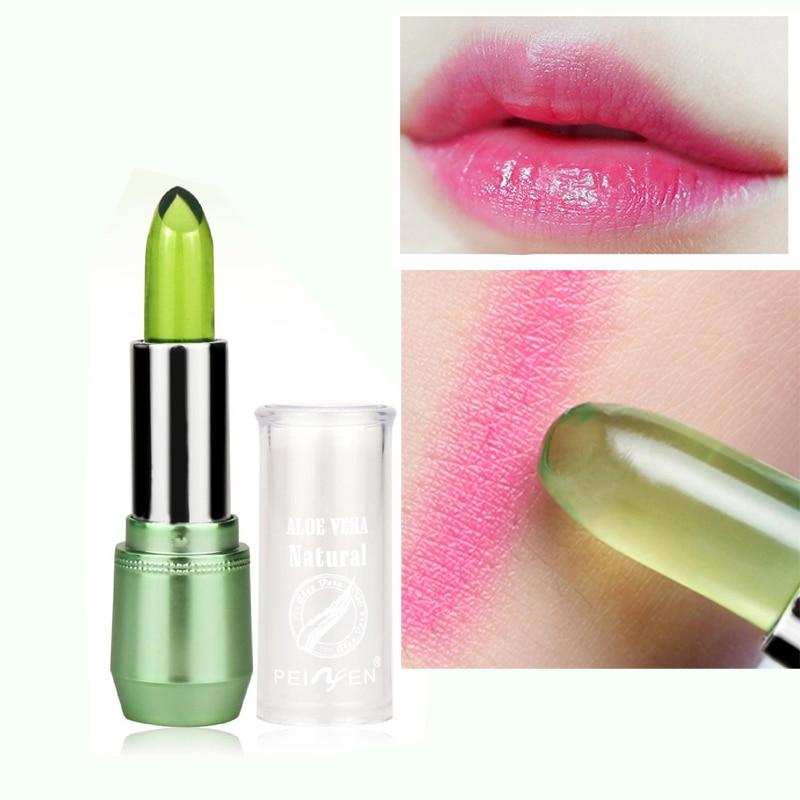 US $3 62 9% OFF|2018 New Batom 99% ALOE VERA Natural Temperature Change  Color Jelly Lipstick Long Lasting Moistourizing Lip Makeup-in Lipstick from