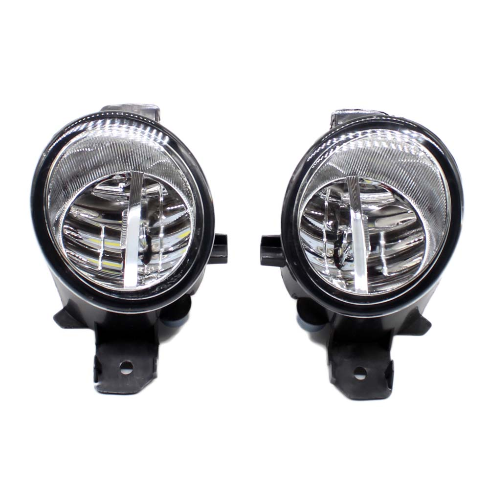 цена на 2pcs Car Styling Round Front Bumper LED Fog Lights DRL Daytime Running Driving fog lamps For Renault ESPACE 4/IV (JK0/1_) MPV