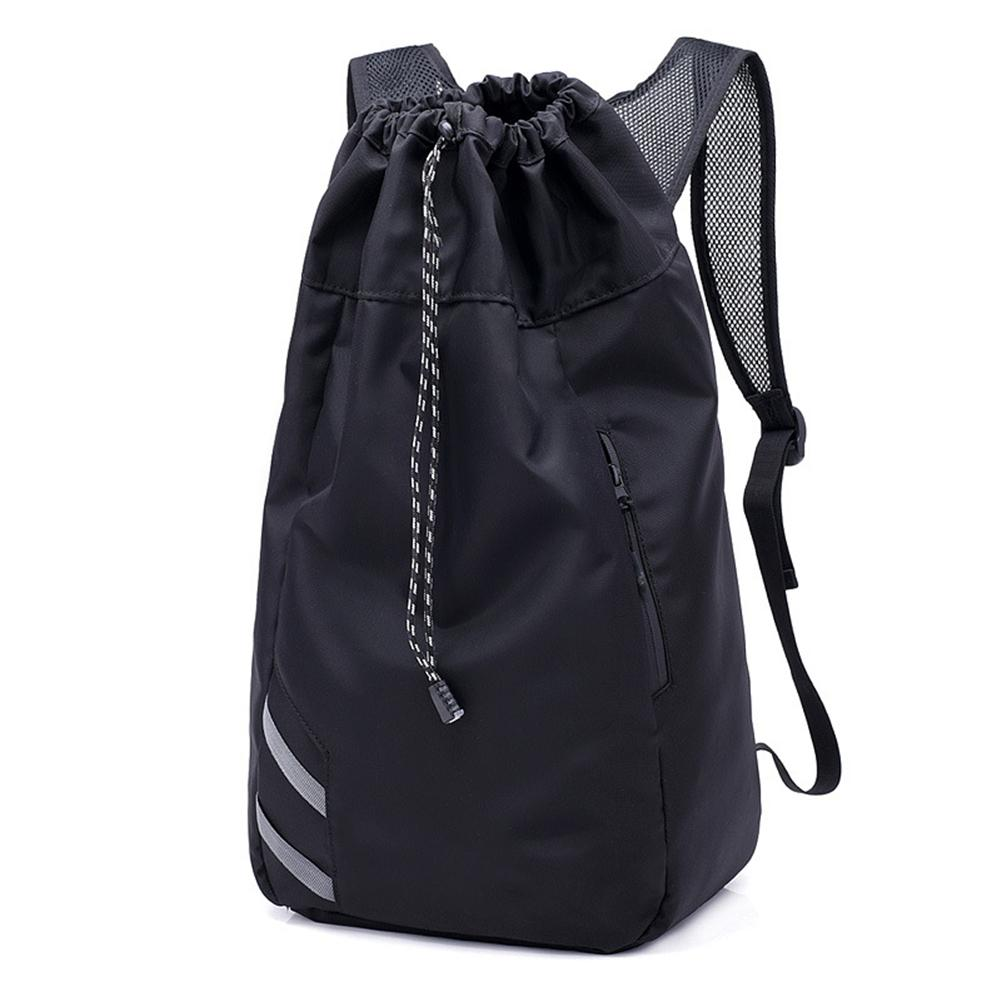 Basketball Backpack Waterproof Nylon Drawstring Shoulder Basketball Bag With Large Capacity Outdoor Sports Backpack