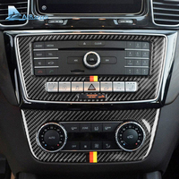 Airspeed for Mercedes Benz GLE 2015 2018 Accessories Carbon Fiber Car Interior Center Console CD AC Panel Cover Trim Stickers