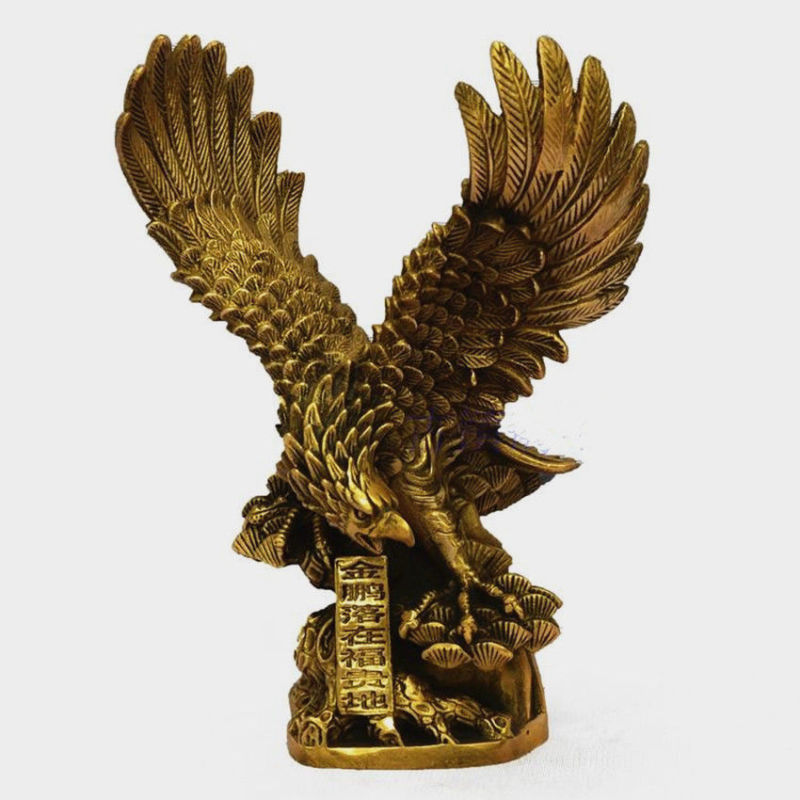 8Chinese Brass Copper spread the wings Hawk Eagle Bird Figures Statue8Chinese Brass Copper spread the wings Hawk Eagle Bird Figures Statue