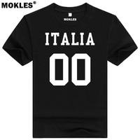 ITALIE t-shirt diy livraison custom made nom nombre ita t-shirt nation drapeau il italien pays italia collège université texte vêtements