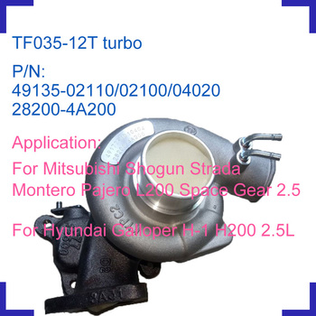 Engine turbo charger turbocharger kit 49135-02110 49135-02100 for Mitsubishi Shogun Strada Monerto Pajero L200 Space Gear 2.5L