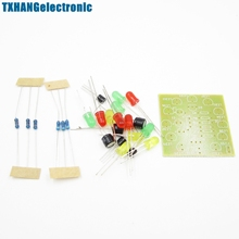 Red DIY Kit Circular Lamp Suite 12PCS LED Electronic Production