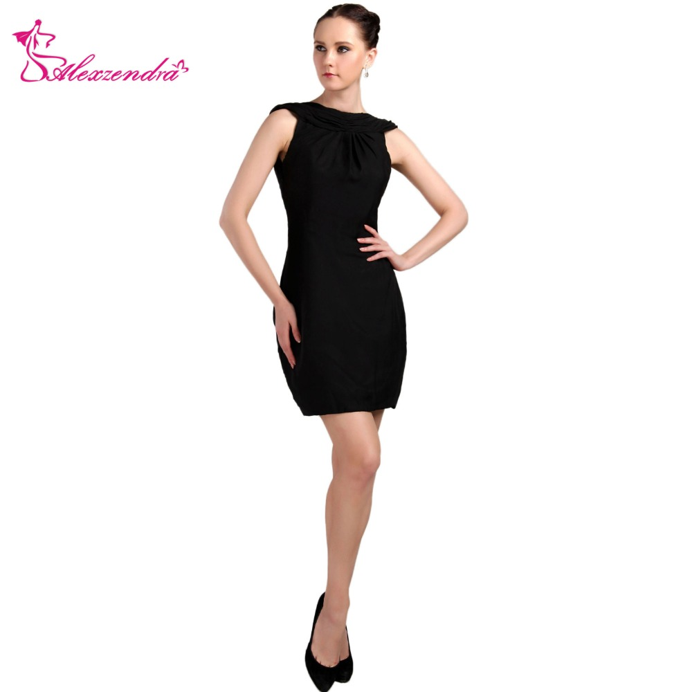 Alexzendra Black Short Backless Sexy   Prom     Dresses   Simple Party   Dresses   Plus Size