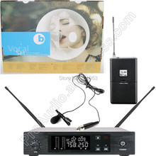 MICWL UHF 96 Channel Wireless Lavalier Microphone System for Stage Performance Singing