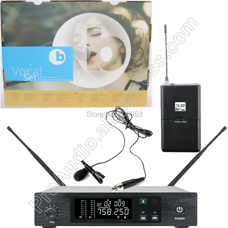 MICWL UHF 96 Channel Wireless Lavalier Microphone System for Stage Performance Singing high end uhf 8x50 channel goose neck desk wireless conference microphones system for meeting room