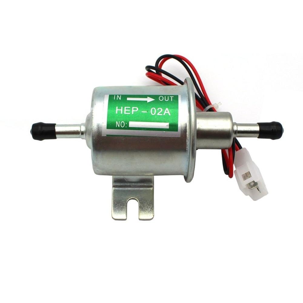 MIOIM 12V Low Pressure Universal Electric Fuel Pump Inline Petrol Gas Diesel HEP-02A