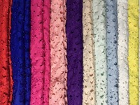 10 Colors AL16 5yards Pc Red Latest Laser Cut Nigerian Lace Fabric Swiss Lace Fabric