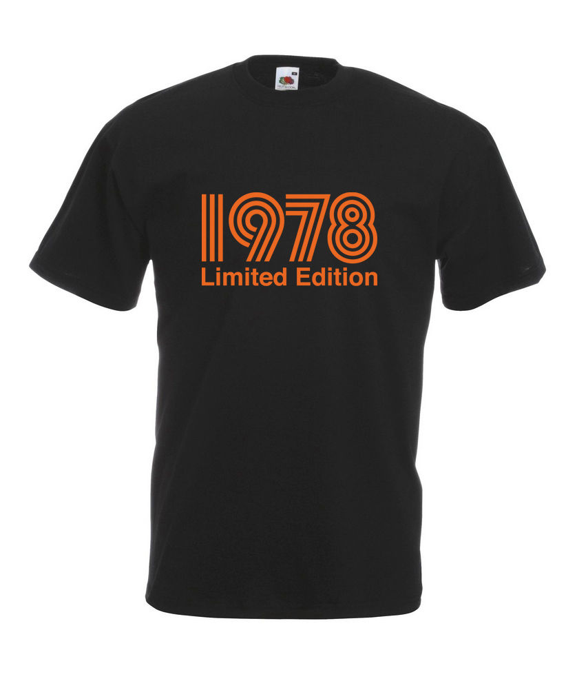 1978 Limited Edition Orange Text Cool T-SHIRT ALL SIZES # Black