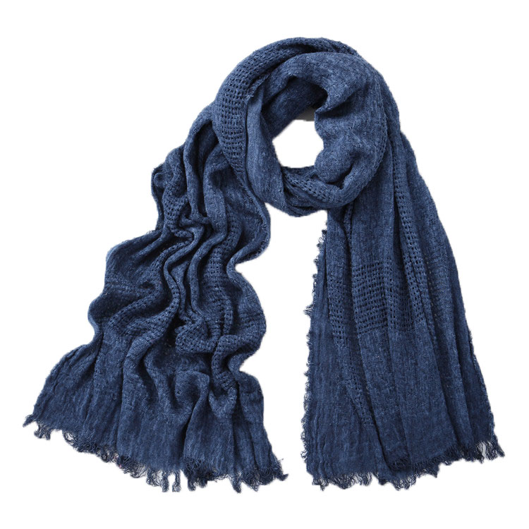 2019 Japanese Unisex Style Winter Scarf Cotton Solider Color Plaid Long Soft Women's Scarves Shawl Fashion Men Scarf