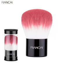 RANCAI Professional Kabuki Makeup Cosmetic Face Powder Foundation Blush Brushes Retractable Powder Brush For Makeup Beauty Tool anmor goat makeup brushes high quality tapered face brush professional powder blush contour makeup tool cfcb b04