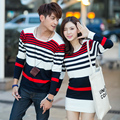 Hot Sale!2016 Valentine's Day gift Couple sweaters Lovers clothes O-Neck Men and Womens sweaters and pullovers knitted sweaters.