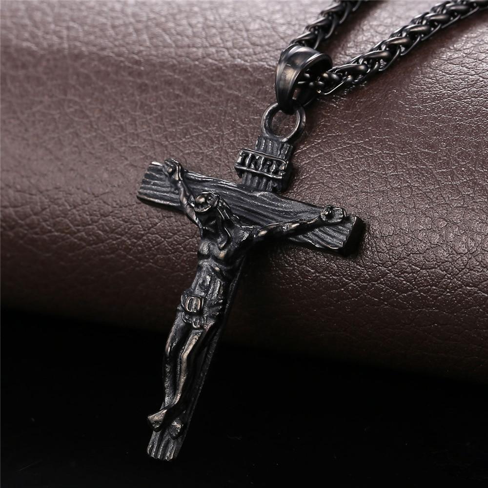 Personalizuar INRI Jesus Piece Crucifix varëse & gjerdan Zinxhir - Bizhuteri të modës - Foto 4