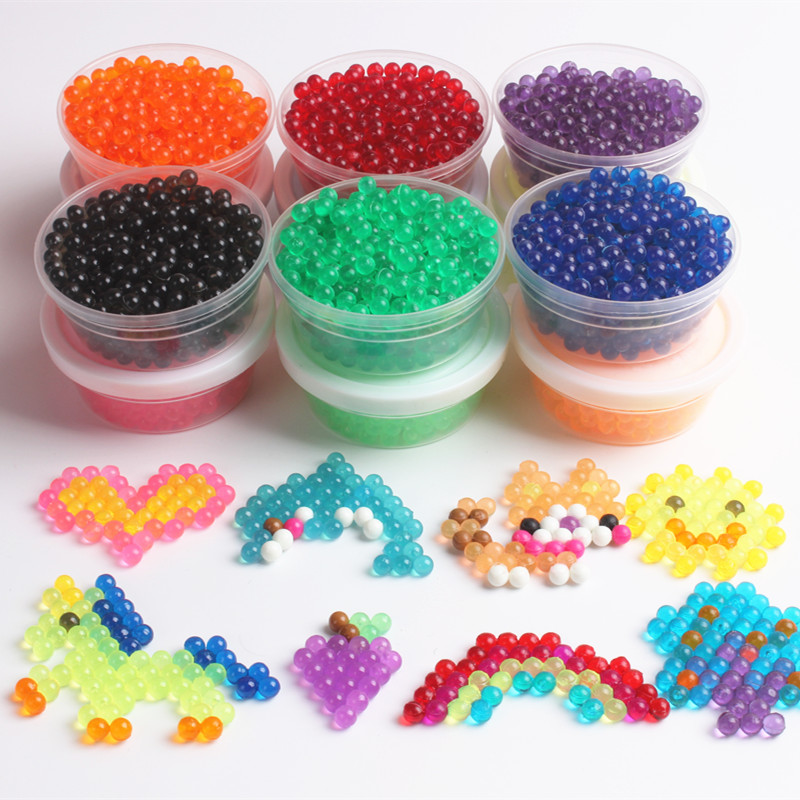 12 Colors Crystal Water Spray Beads Educational Toys For Children Speelgoed 3D Puzzle Toys Transparent Hama Bead  100PCS/Bag