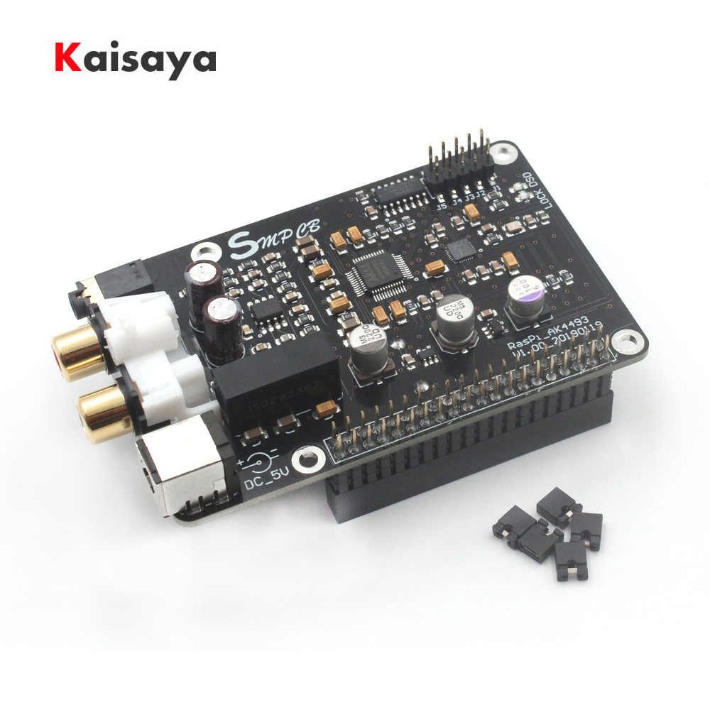 AK4493 DAC Decoder Board Digital Broadcast Network Player DAC Connected to I2S 32bit 384K DSD128 For Raspberry Pi 2B 3B3B+G6-001