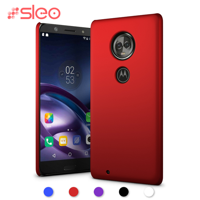 competitive price 8f13d 2d651 US $1.99 20% OFF|SLEO Hard Plastic Back Case For Motorola Moto G6 Plus  Ultra Thin Matte Protective Case For Moto G6 Phone Cases Cover fundas-in  Fitted ...
