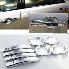 цена на High-quality For Mazda 6 ABS Car Styling Chrome Side Door Handle Cover and Door Bowl Cover
