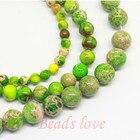 "wholesale Natural Stone green Sea Sediment Jaspe Loose Beads 15.5"" Pick Size 4 6 8 10 12mm Free Shipping (F00147)"