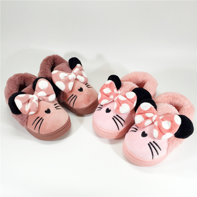 Winter Baby Slippers Warm Kids House Shoes for Girl Christmas ...