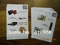 High Quality A5 Leaflets Flyers Printing Material Art Paper 157gsm With Glossy Lamination MOQ 500pcs