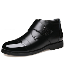 New Handmade Men Leather formal Winter Shoes High Quality Warm Snow Dress Business