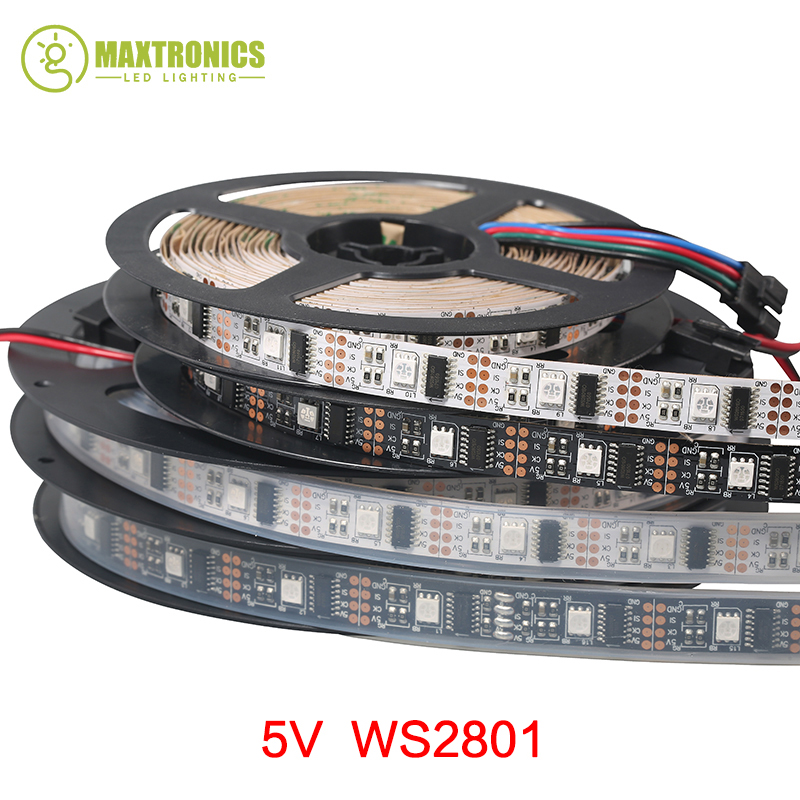 1 Ic Control 1 Led Nice 5m/roll Dc5v Ws2801 5050 Smd Rgb Strip Individually Addressable 32leds/m Arduino Development Ambilight Tv Lights & Lighting