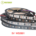 5M/roll DC5V WS2801 5050 SMD RGB strip Individually addressable 32leds/m Arduino development ambilight TV, 1 ic control 1 led