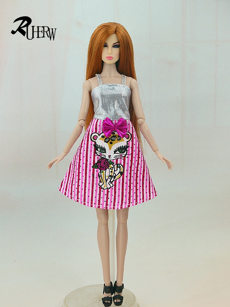 5-Pcs-Handmade-fashion-clothes-For-Barbie-Doll-dress-baby-girl-birthday-new-year-present-for-kids-2
