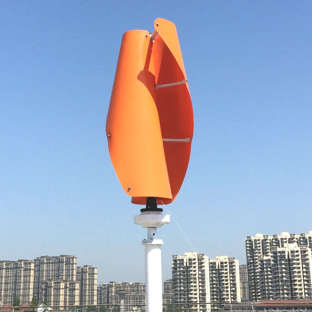 Nouveau produit générateur de vent en spirale 12v 24v sans contrôleur automatique MPPT d'éolienne verticale 200w